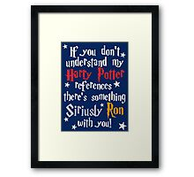 Harry Potter references - dark background Framed Print