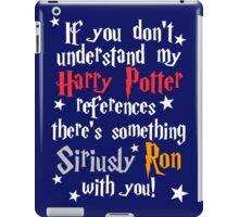 Harry Potter references - dark background iPad Case/Skin