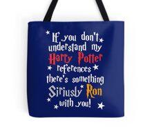 Harry Potter references - dark background Tote Bag