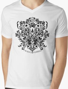 cole companion tattoo  Mens V-Neck T-Shirt