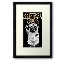 metal pug Framed Print