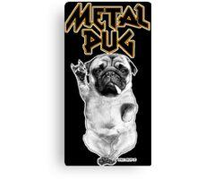 metal pug Canvas Print