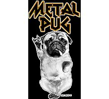 metal pug Photographic Print