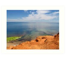 Port Noarlunga cliffs and ocean Art Print