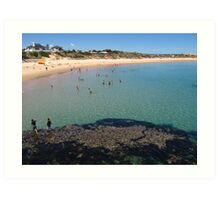 Port Noarlunga Reef and beach Art Print