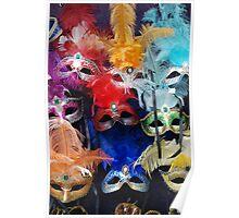 Venetian Carnival Masks Poster