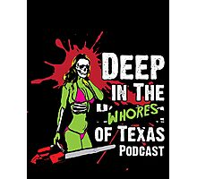 Deep in the wHorror of Texas Chainsaw Girl Photographic Print