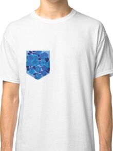 Floral Pattern Pocket 2 Classic T-Shirt