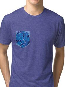 Floral Pattern Pocket 2 Tri-blend T-Shirt