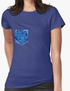 Floral Pattern Pocket 2 Womens Fitted T-Shirt