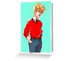 modern au enjolras Greeting Card