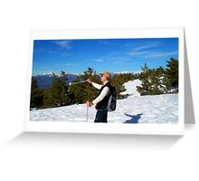 winter sports Greeting Card
