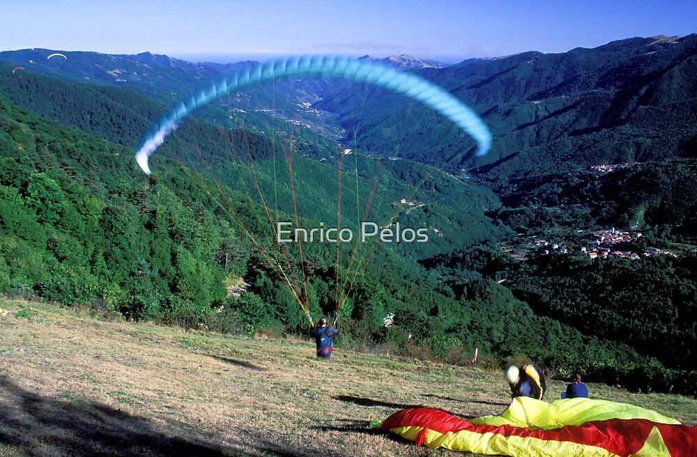 LIGURIA LANDSCAPES Arroscia Valley hand gliding 2 by Enrico Pelos