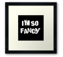 Iskybibblle Products/ I'm so fancy White Framed Print