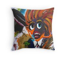 Caught Out On A Windy Day Section by Heather Holland Throw Pillow