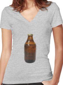Beer Bottle Women's Fitted V-Neck T-Shirt