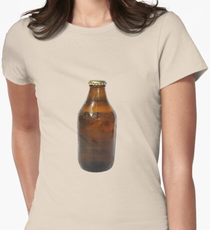 Beer Bottle Womens Fitted T-Shirt