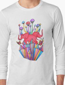 Pink Elephants Long Sleeve T-Shirt