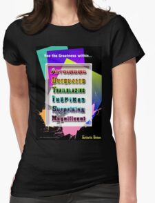 The Greatness Within Womens Fitted T-Shirt