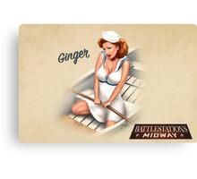 Battlestation Midway,Ginger Canvas Print