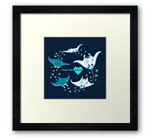 Love Manta - I Flip for Rays Framed Print
