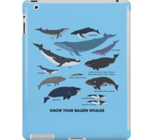 Know Your Baleen Whales iPad Case/Skin