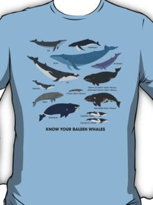 Know Your Baleen Whales T-Shirt