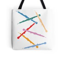 Colorful English Horns Tote Bag