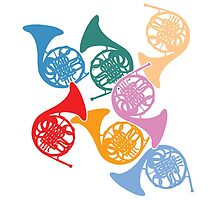 Colorful French Horns by zenguin