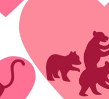Love Animals - Land Animal Career Sticker