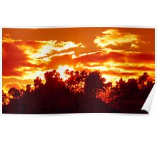 Flaming sunset ! Poster