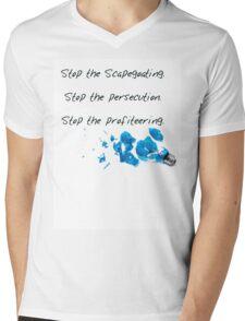 No to Light it up Blue Mens V-Neck T-Shirt