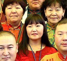 mongolian visitors. mcleod ganj, india by tim buckley | bodhiimages