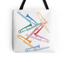 Colorful Trombones Tote Bag