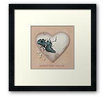 Love Sea Turtles - Egg Heart Framed Print