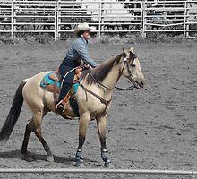 Buckskin Cowgirl by Al Bourassa