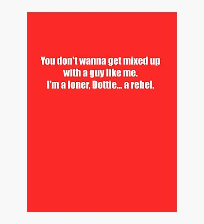 Pee-Wee Herman - Don't Wanna Get Mixed Up - White Font Photographic Print