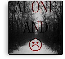 Alone And Unhappy Tee Canvas Print