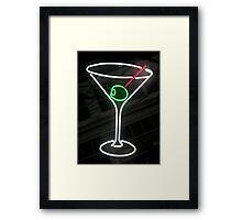 Neon Cocktail Framed Print