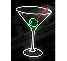 Neon Cocktail Photographic Print