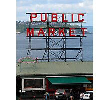 Pike Place Market Number 1, Seattle Photographic Print