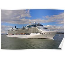 Celebrity Eclipse Cruise Ship Poster