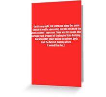 Pee-Wee Herman - On This Very Night, Ten Years Ago - Black Font Greeting Card