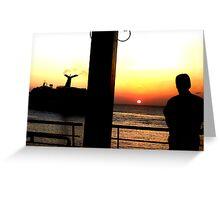 Caribbean Sunset Greeting Card