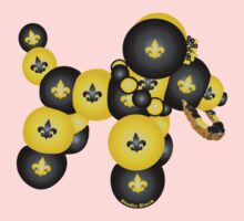 Black and Gold Dog Kids Clothes
