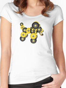 Black and Gold Dog Women's Fitted Scoop T-Shirt