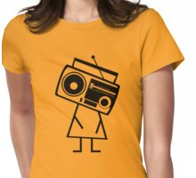 RADIO-FACE (Black) Womens Fitted T-Shirt