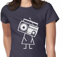 RADIO-FACE (White) Womens Fitted T-Shirt