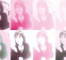 Goruo Pink Yukiko Okada Collage by goruo
