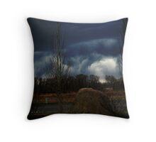 Turbulent Sky Throw Pillow